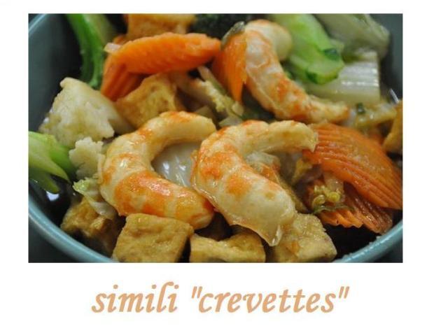 Imitation Crevettes 100% végétales (donc végétalien)