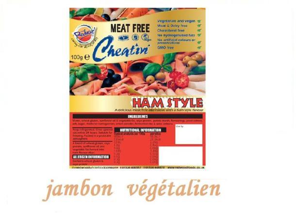 Jambon 100% végétal (végétalien)