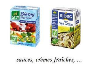 Sauces et crèmes végétales